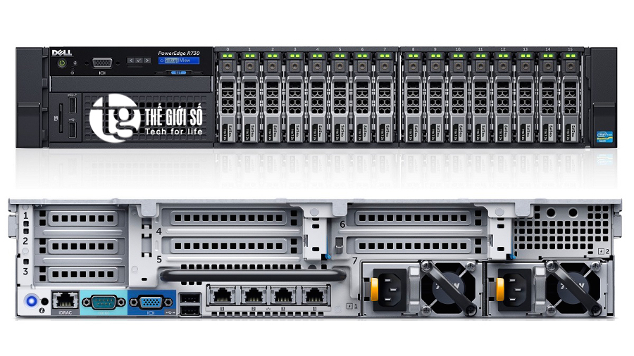 SERVER DELL POWEREDGE R730 - 8-Core E5-2630v3 2.4GHz, 20M Cache, 8.0GT/s QPI
