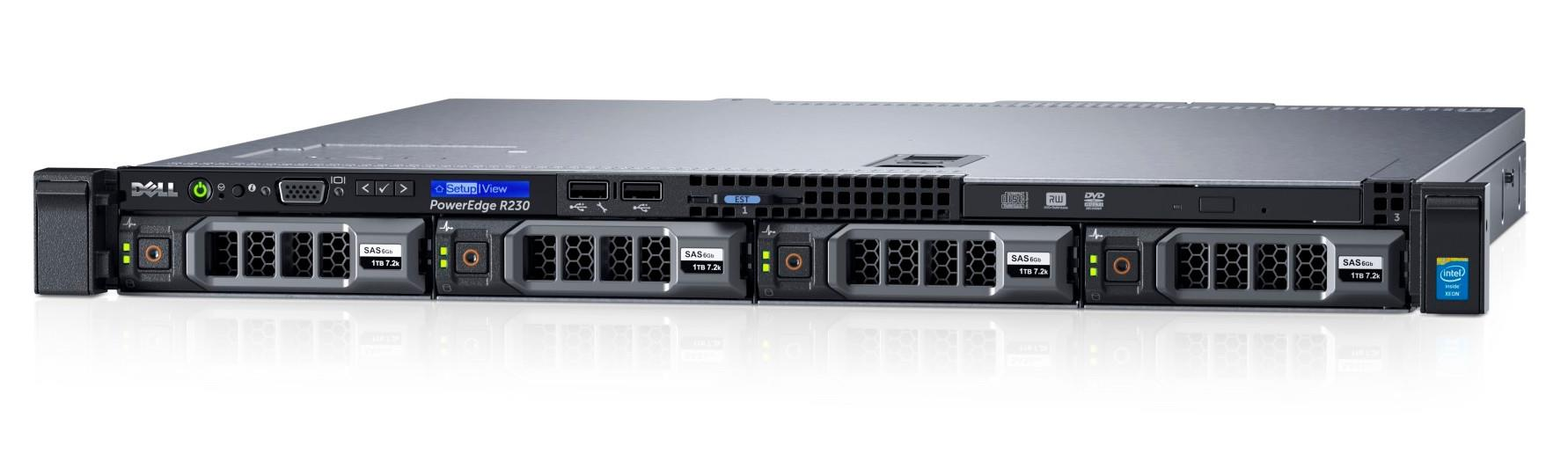 MÁY CHỦ DELL POWEREDGE R230 E3-1220 V5 ( 3.10 GHz, 4 core/ 4 threads )