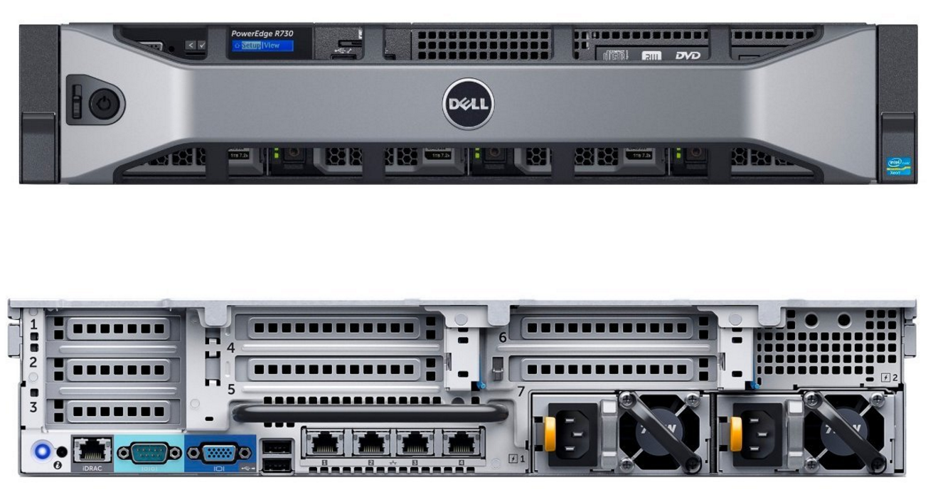 MÁY CHỦ DELL POWEREDGE R730 HDD 3.5 E5-2630 v4