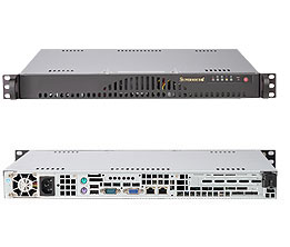 LifeCom Super 1U Server Rack SC512L-260B - CPU E3-1220 SATA