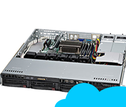 Server Supermicro Cloud - Profesional Package 02(10VM, 2.5TB) E5 Series S043