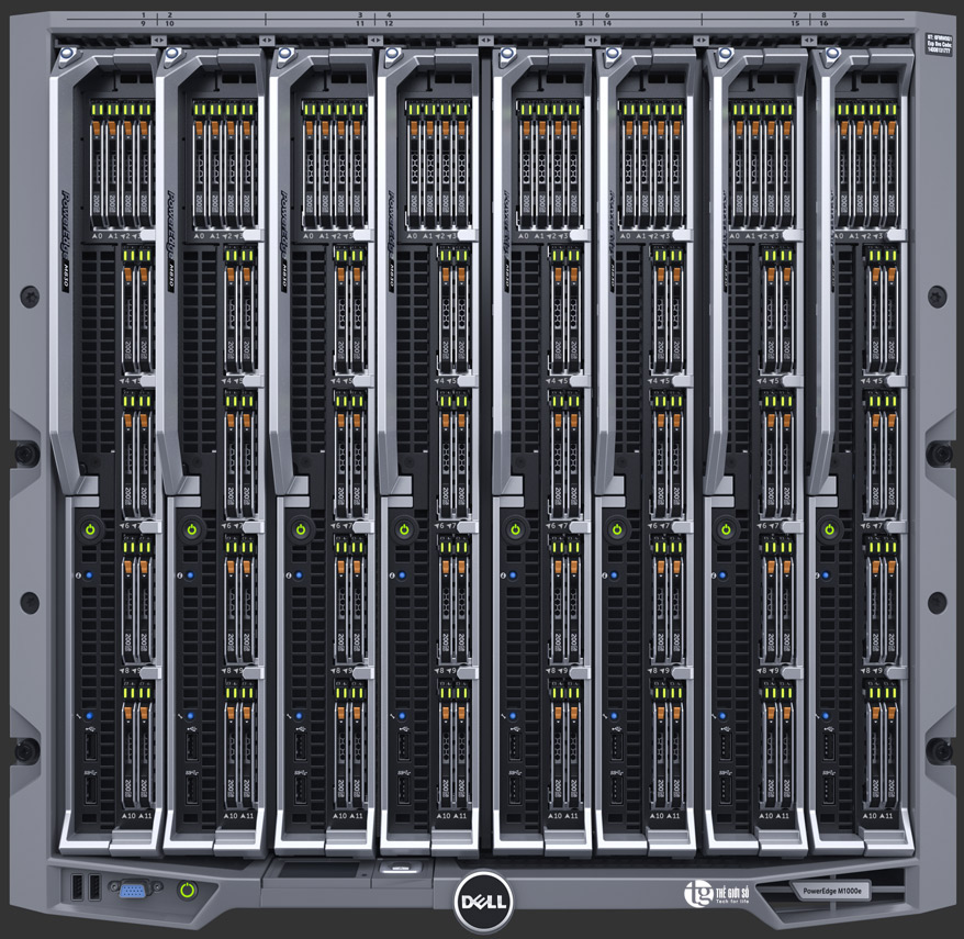 DELL POWEREDGE M1000E BLADE ENCLOSURE SERVER